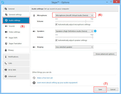 Audio settings to use voice changer for Skype