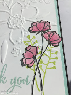 Thank You card, Lovely Floral Embossing Folder