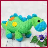 Dinosaurio bebé amigurumi