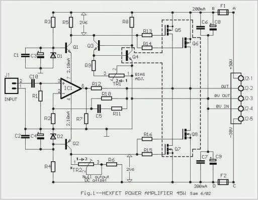 Amplificateur de puissance Audio de 45 Watts à l'aide de