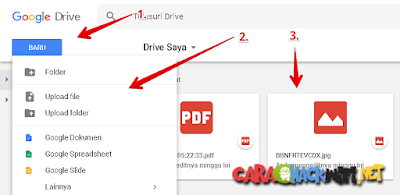 Cara Upload File di Google Drive
