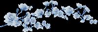 Ramo flores azuis png