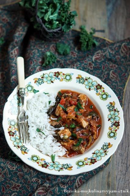 potrawka, dietetycznie, kurczak, indyk, hashimoto, obiad, bernika, jarmuż kulinarny pamietnik, gulasz