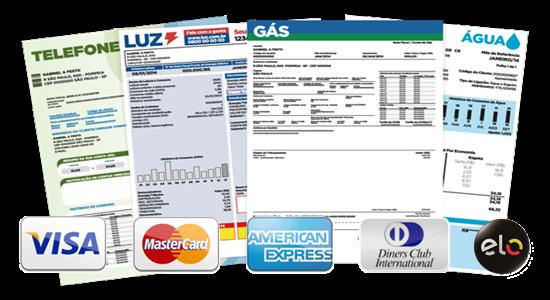 Como pagar contas de agua, luz e telefone com cartão de crédito grátis
