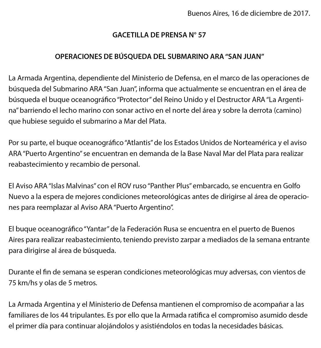 Argentina Inside News: Parte de prensa ARA - Gacetilla de prensa N ...