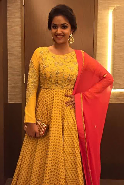 Keerthy Suresh Still In Yellow Dress