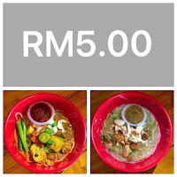 Menu RM5.00