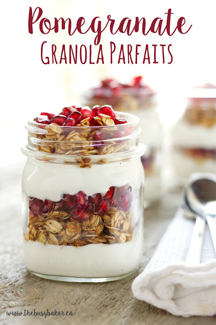 Pomegranate Granola Parfaits www.thebusybaker.ca