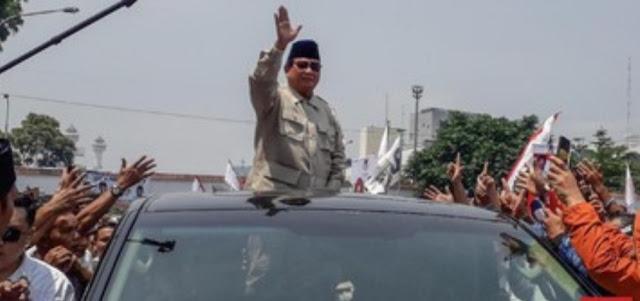 BPN Akui Mobil yang Dipakai Prabowo di Cianjur Milik Ketum Garis