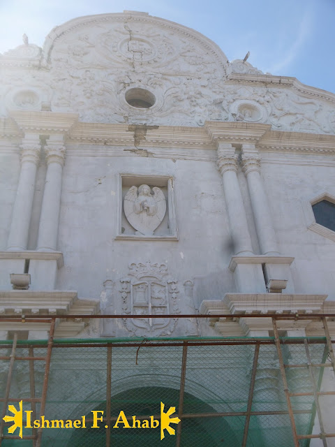 Facade of Cebu Metropolitan Cathedral damaged by Bohol earthquake