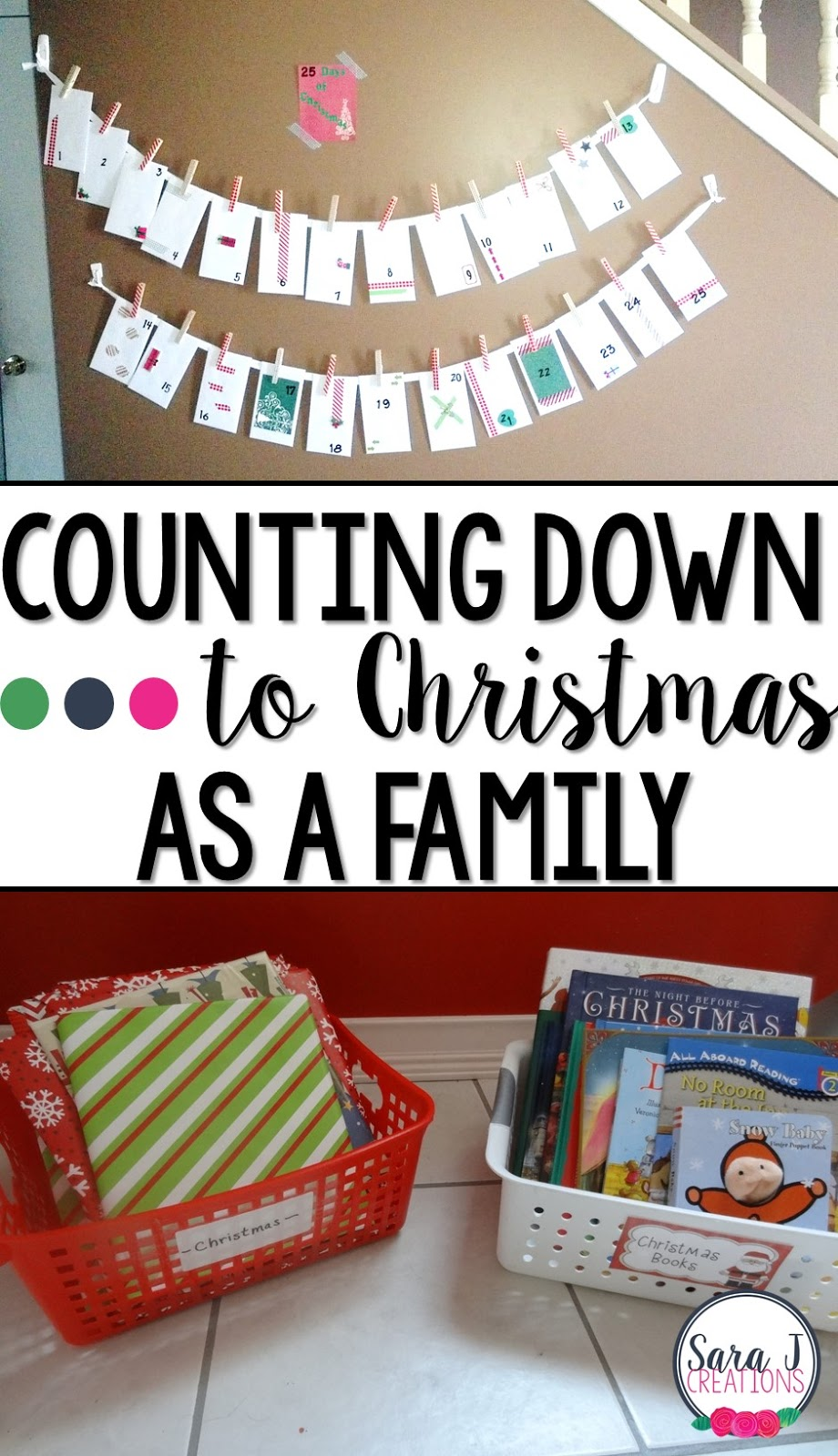 Ideas for counting down to Christmas and start traditions with your family.