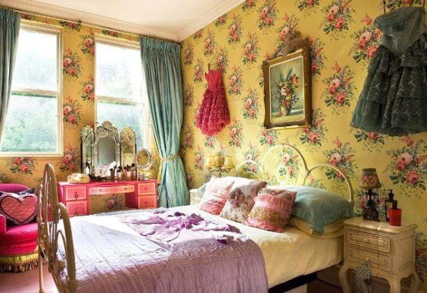 floral vintage bedroom furniture