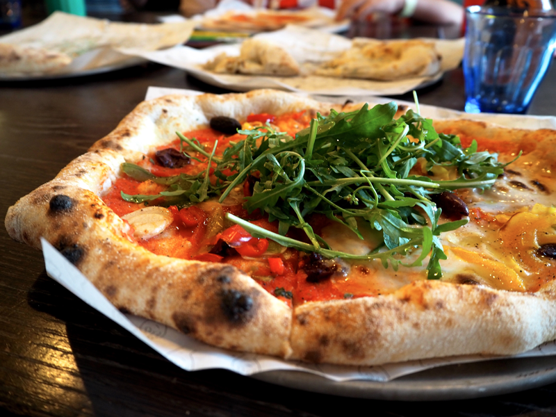 Pizzarova vegan sourdough pizza Bristol review Oyster Pearl blog Lottie Storey