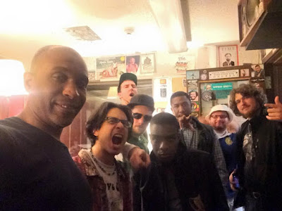From Left: C-Kaos, Zack from Off The Dome, DJ Daysix, B. Dvine, E-ryDa, Jahan Nostra, Cella, and myself