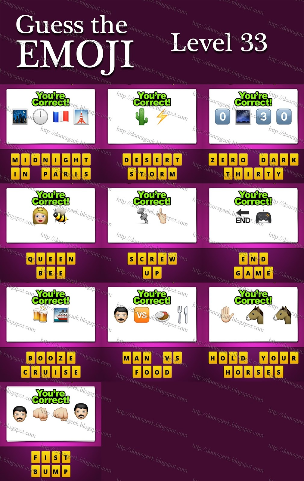 Guess What I Know: Guess The Emoji [Level 33] Answers And Cheats
