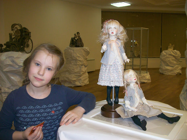 """Выставка авторской куклы в Самаре """"Куклы. Эмоции. Чувства."""",Ксения Мингалёва (п. Усть - Кинельский) """"Сёстры"""""""