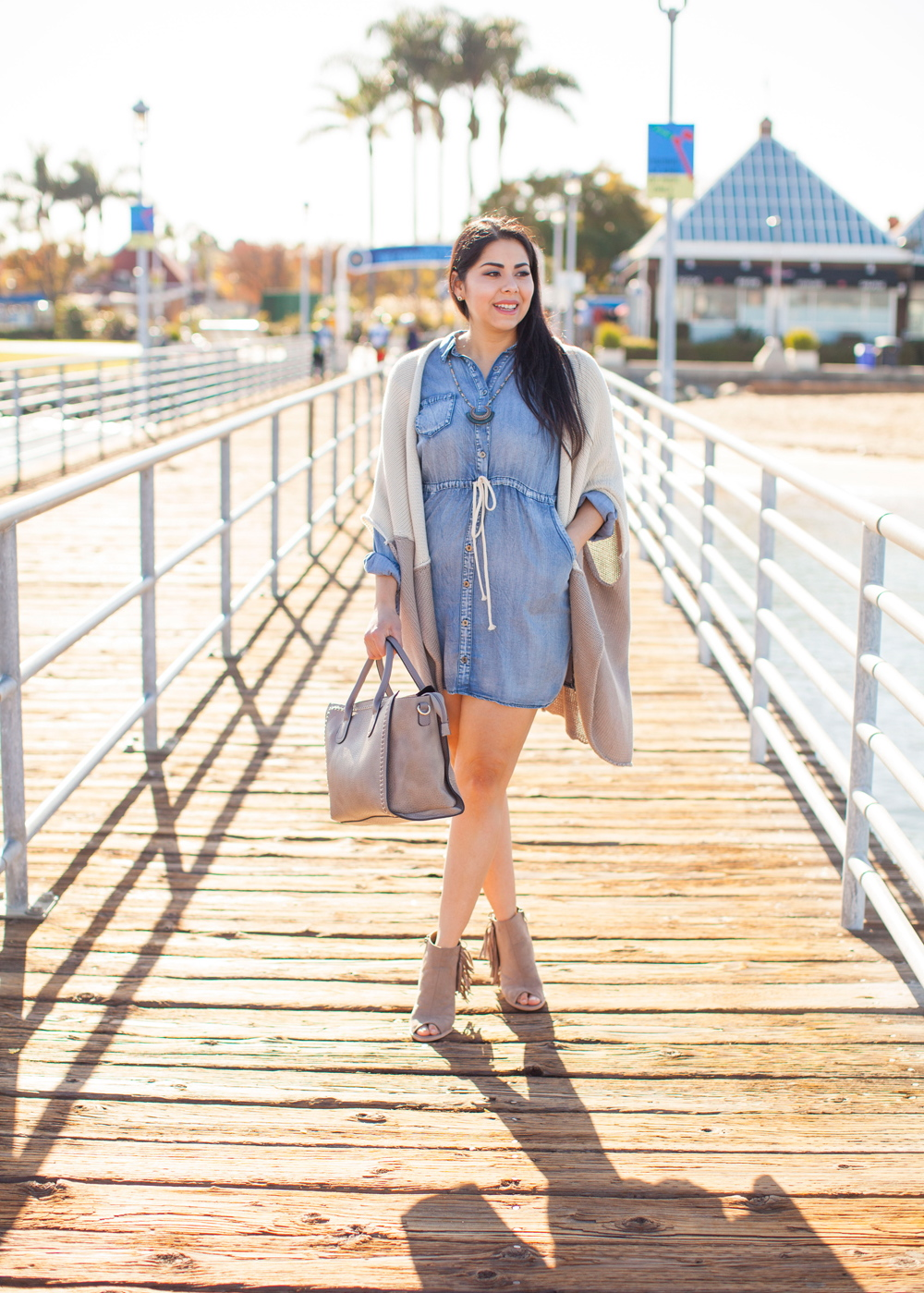 San Diego Fashion Blogger, So cal fashion blogger, so cal style blogger, denim dress ootd