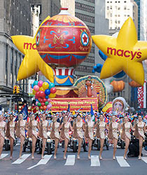 Macy's Thanksgiving Day Parade - One of many parades and festivals in New York City - Pre-Post Cruise Stay