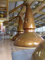 stills and mash tun at glenlivet