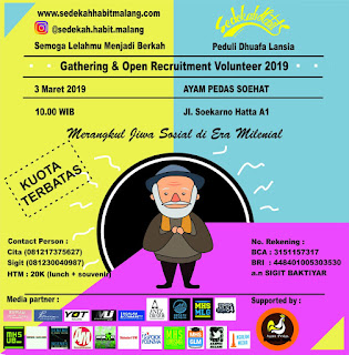 GATHERING & OPEN RECRUITMENT VOLUNTEER SHM 2019