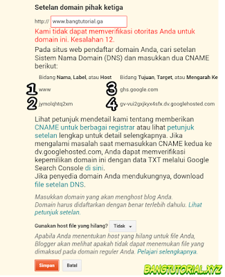Data DNS Domain Baru Dari Blogspot