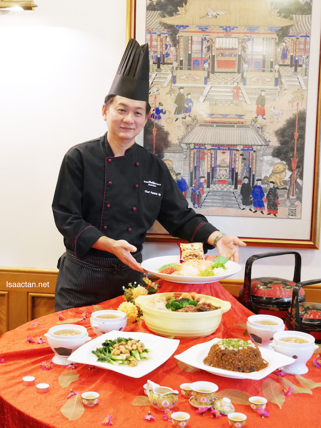 Chef Patrick Ng showcasing his CNY set dishes
