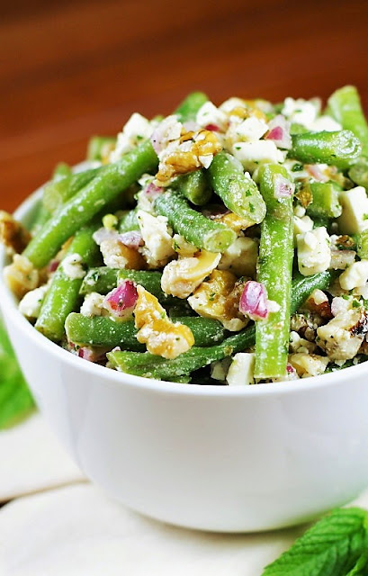 Fresh Green Bean, Walnut, & Feta Salad with Mint Vinaigrette image