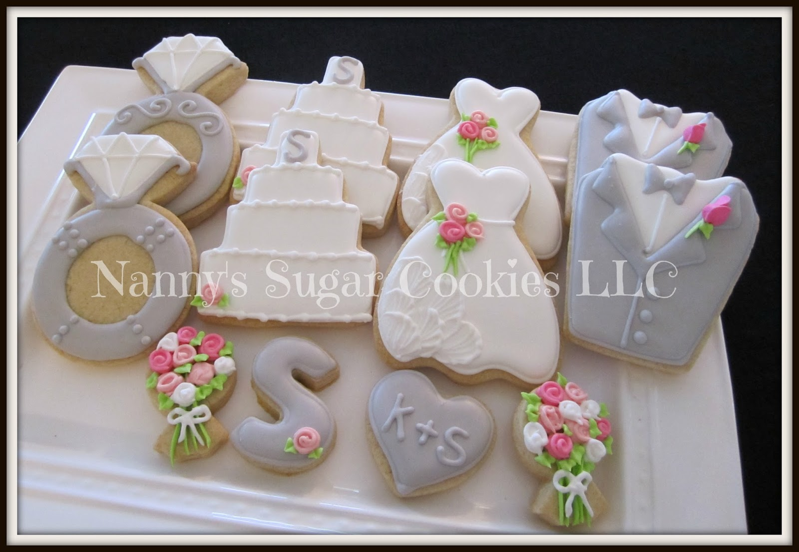 Nanny\'s Sugar Cookies LLC: Wedding Theme Cookie Platters...