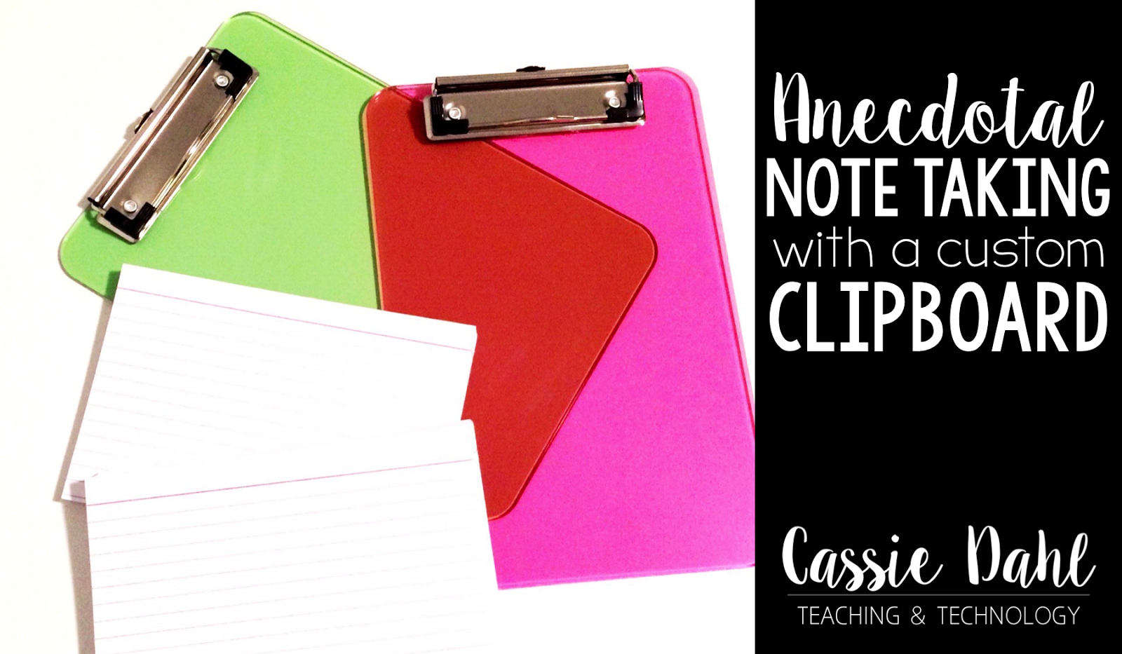 Keeping track of important little notes throughout the school year can be tricky. No more huge binders, random post-its or student files! Check out how you can make your own custom clipboard to keep Anecdotal Notes.