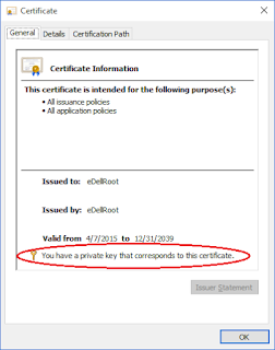 dell laptop certificate