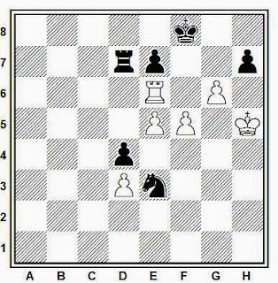 Estudio artístico de ajedrez compuesto por Daniel Perone (Mención de Honor, Iuri Akobia 75 JT, 2012)