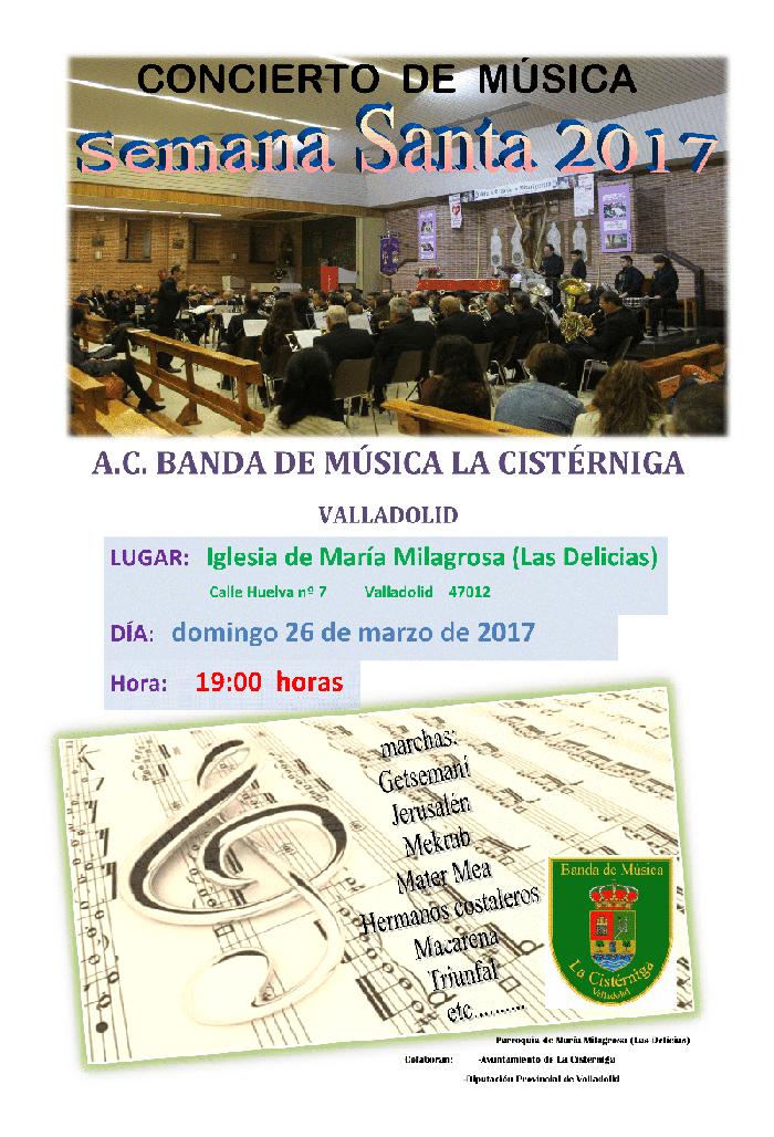 iglesia milagrosa delicias semana santa 2017 - banda musica cisterniga