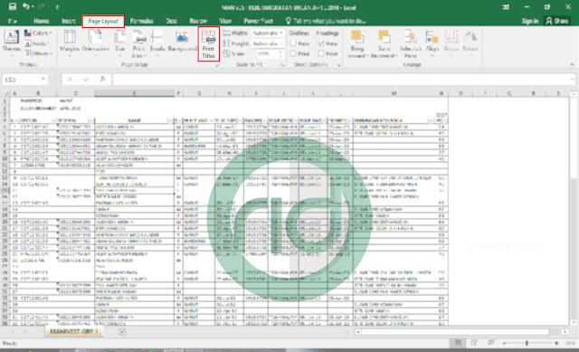 Cara Mengulang Judul Kolom Excel Agar Selalu Tercetak Disetiap Halaman