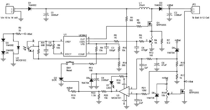 Circuit Panel Ultra Fast Battery Charger Circuit