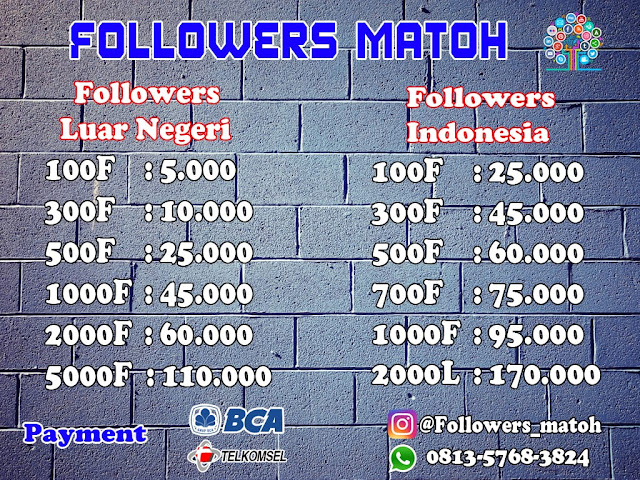 Jasa Tambah Followers Instagram Aktif Termurah