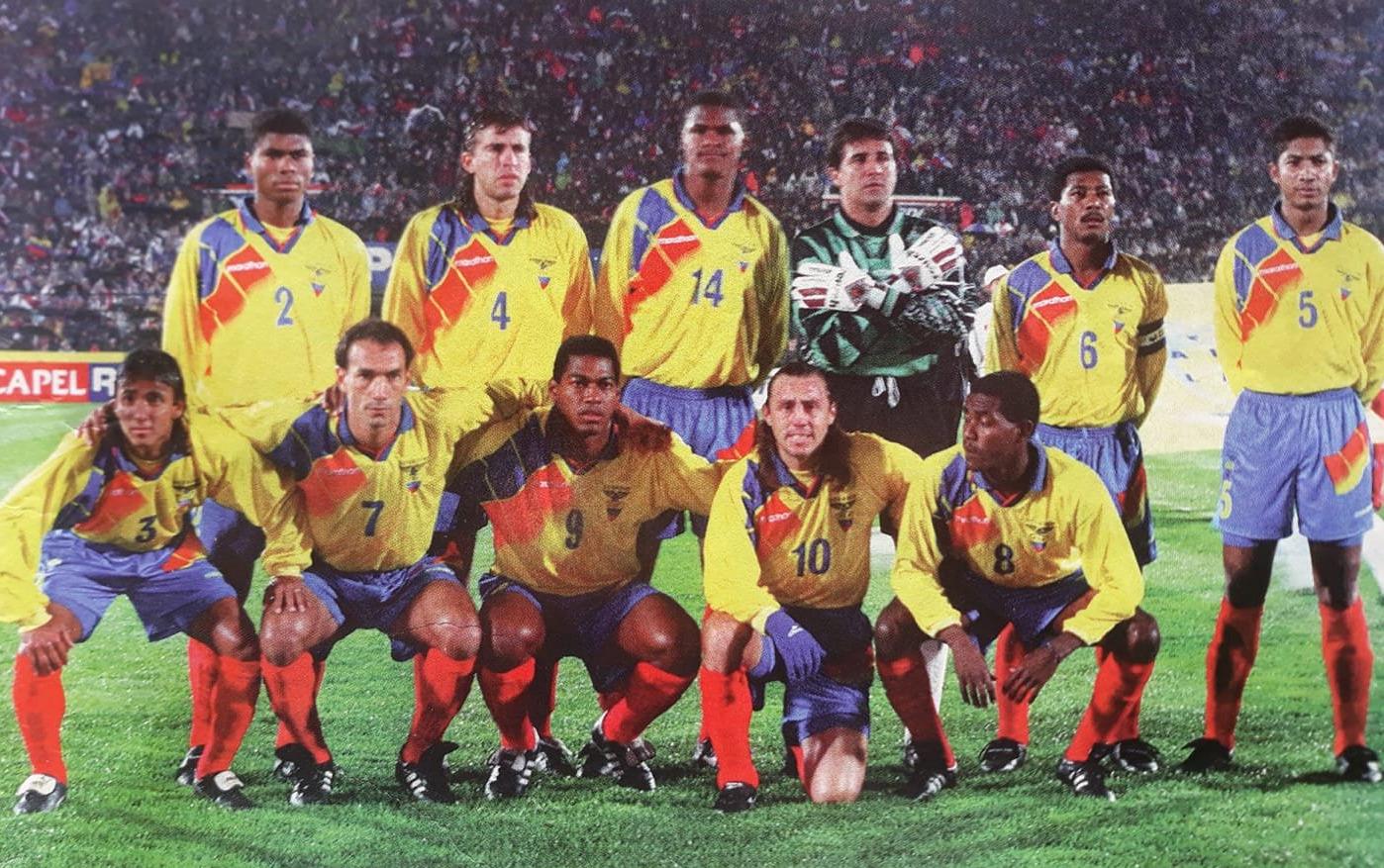 Formación de Ecuador ante Chile, Clasificatorias Francia 1998, 6 de julio de 1996