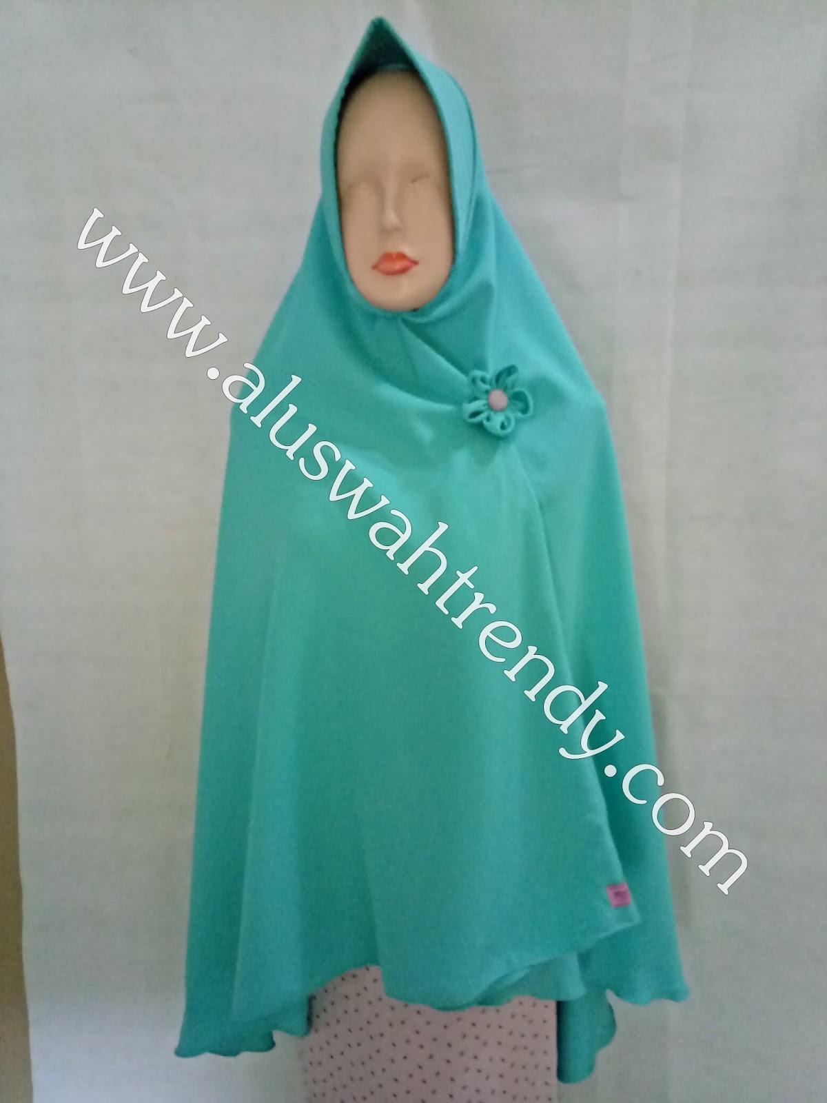 Jilbab Khimar Instan Warna Hijau Tosca 26