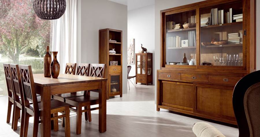 Mesas de comedor mesas de comedor coloniales for Muebles estilo colonial