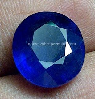 Batu Permata Royal Blue Saphire + Memo - ZP 617
