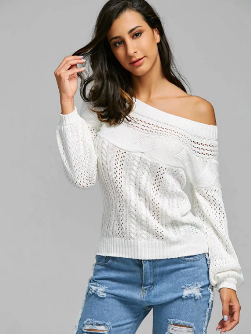 94e77e533 White sweatshirts, pants, shoes, and accessories are all cool to wear.  Let's try to pair these cozy sweater with denim in the perfect way and  become the ...