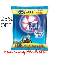 Surf Excel Easy Wash Detergent - 4 kg For Rs 410 ( Mrp 544 ) Free Ship Amazon