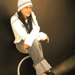 Andrea Rincon, Selena Spice Galeria 19: Buso Blanco y Jean Negro, Estilo Rapero Foto 37