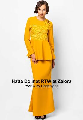 design baju raya 2013 hatta dolmat at zalora