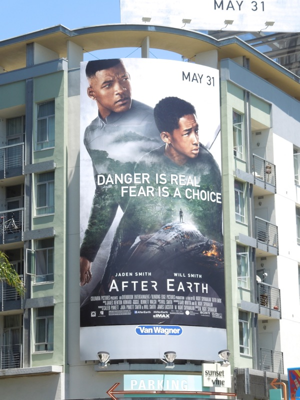 After Earth movie billboard