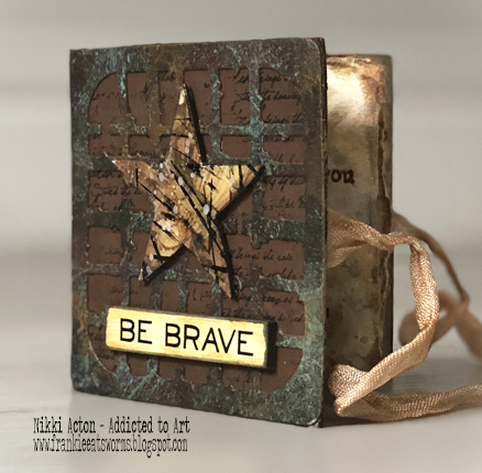 Mini Book by Nikki Acton featuring PaperArtsy quote stamps by Alison Bomber