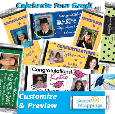 pictures of personalized graduation candy bar favors