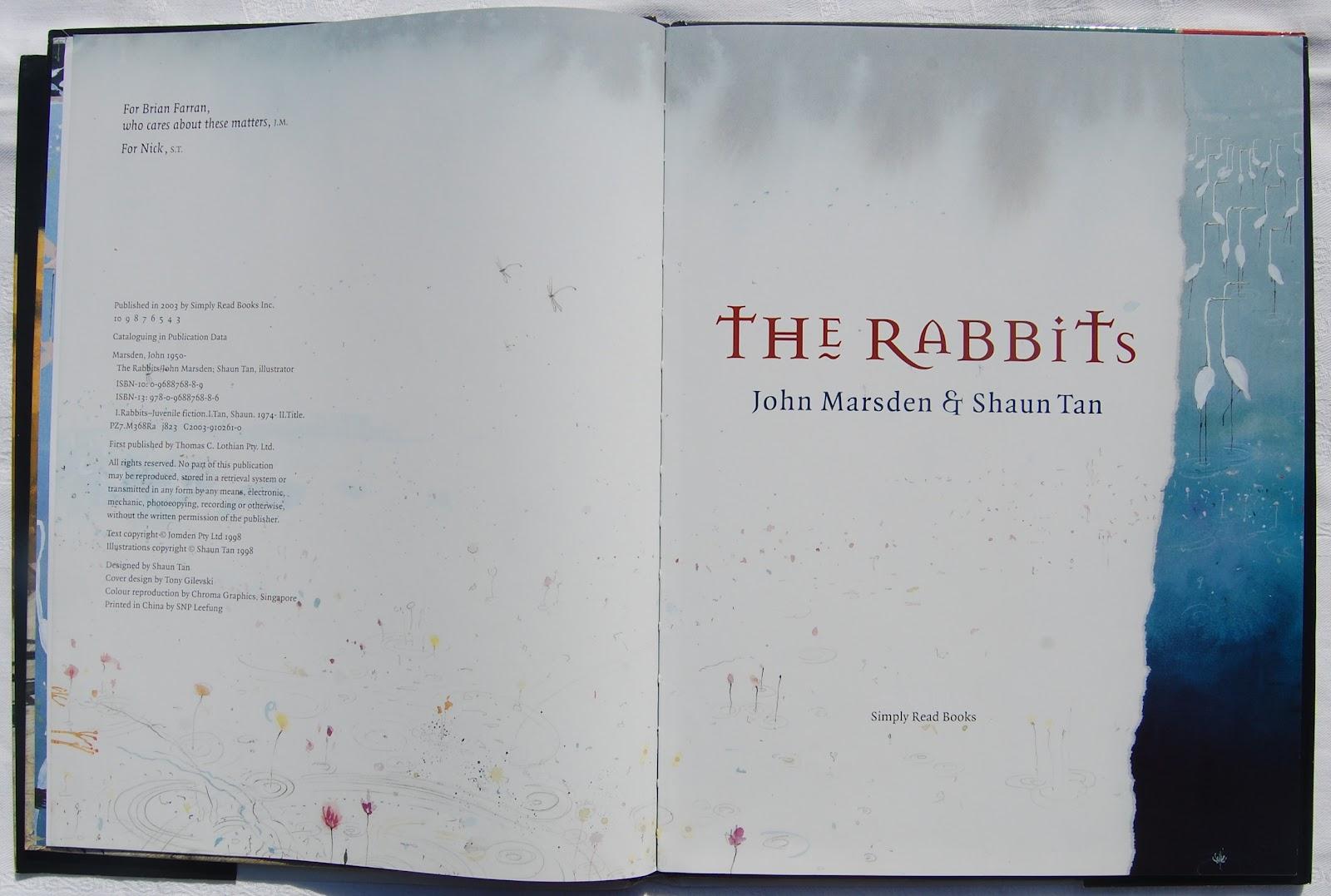 The Rabbits by Shaun Tan and John Marsden