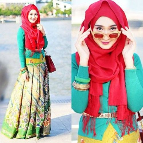 Baju Batik Ala Artis: Model Baju Lebaran 2015 Ala Dian Pelangi