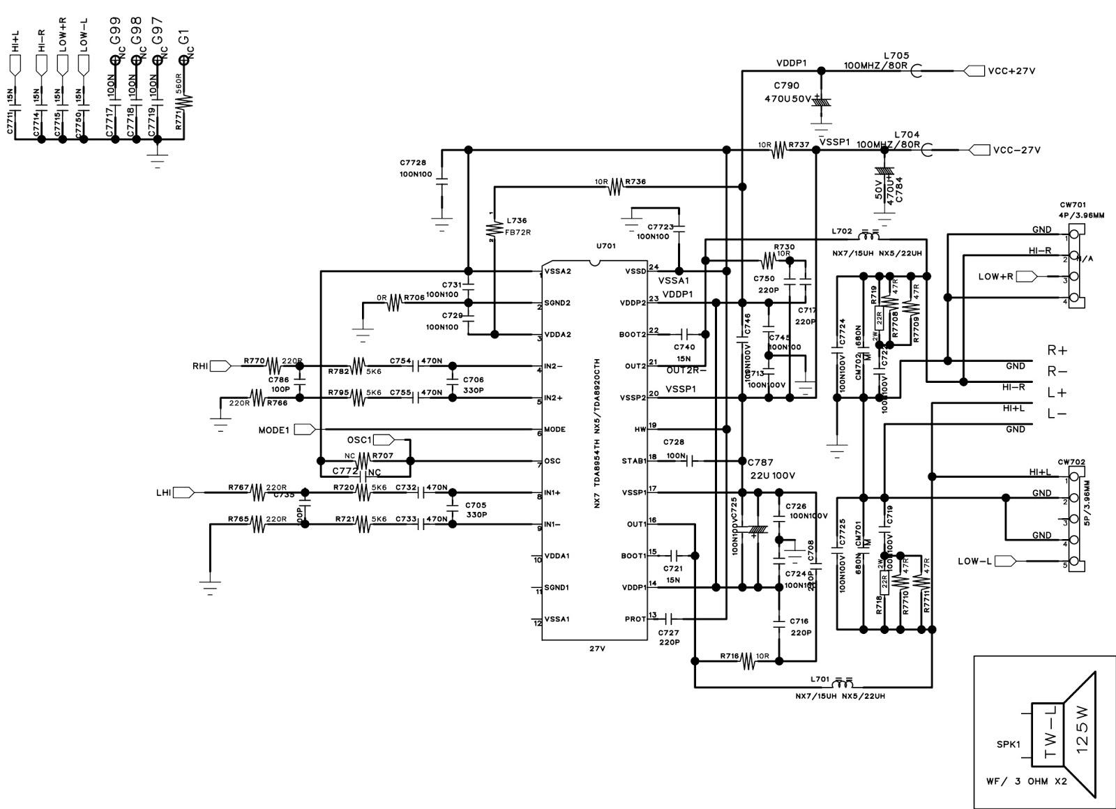 Electro Help Philips Ntrx500 Mini Hi Fi System Circuit