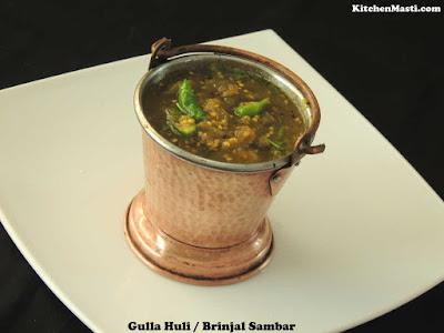 Gulla Huli Brinjal Sambar
